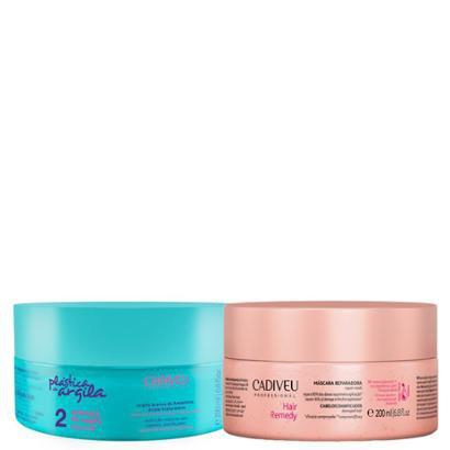 Kit Cadiveu Máscara Reparadora Hair Remedy Plástica Argila 200G + 1 Máscara 200Ml-Feminino