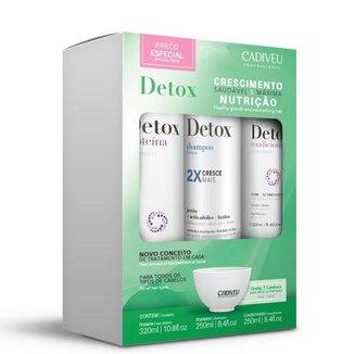Kit Cadiveu Professional Detox Home Care Shampoo 250ml + Condicionador 250ml + Proteína 320ml