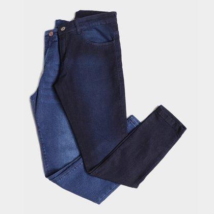 Kit Calça Jeans Skinny Evidence Estonada C/ 2 Peças Masculina