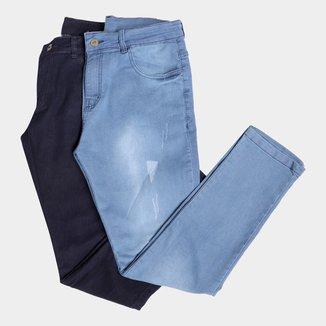 Kit Calças Jeans Skinny Evidence 2 Peças Masculino