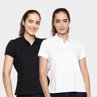 Kit Camisa Polo Burn Básica C/ 2 Peças Feminina