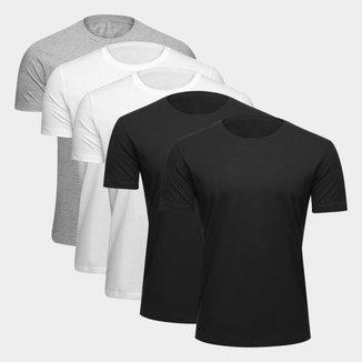 Kit Camiseta Básica Ultimato Masculina - 5 Peças