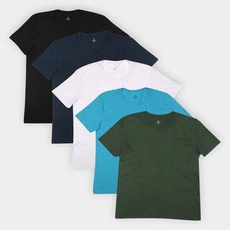 Kit Camiseta Burn Básica C/ 5 Peças Masculina
