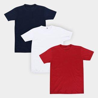 Kit Camiseta Infantil All Free Básica Masculina 3 Peças