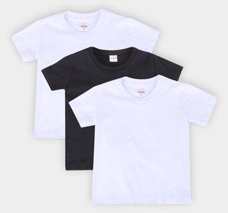 Kit Camiseta Manga Curta Juvenil All Free Básica 3 Peças