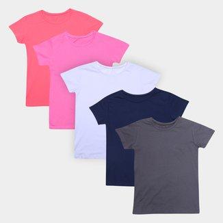 Kit Camiseta Volare C/ 5 Peças Feminino