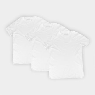 Kit Camisetas Basicamente Lisas 3 Peças Masculina