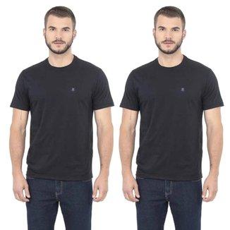 Kit Camisetas Polo Wear Básicas Com 2 Peças Masculinas