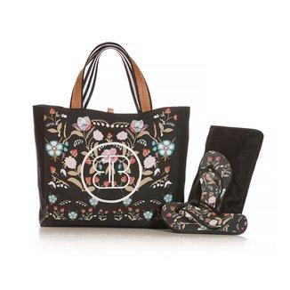 Kit Chinelo Blue Bags + Necessarie + Bolsa de Praia Folk Floral