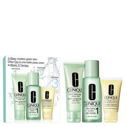 Kit Clinique 1 Sabonete Liquido 50ml + 1 Loção Clareadora 100ml + 1 Loção Hidratante 30ml