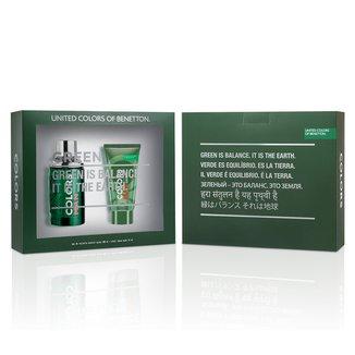 Kit Colors Man Green Benetton - Perfurme Masculino Eau de Toilette 100ml + Pós Barba 75ml