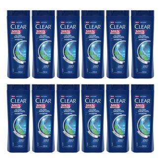 Kit com 12 Shampoo Clear Ice Cool Menthol 200ml