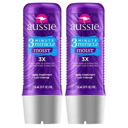 Kit Com 2 Tratamentos Aussie Moist 3 Minutos Miraculosos 236Ml