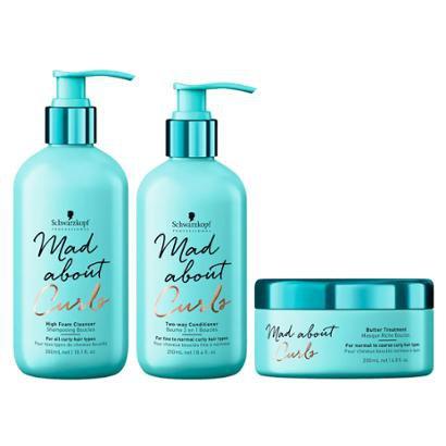 Kit Cond + Shampoo + Máscara Schwarzkopf Mad About Curls High