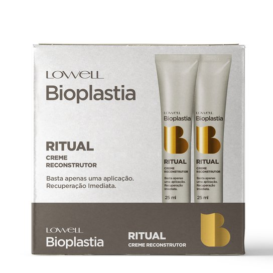 Kit Creme Reconstrutor Lowell Bioplastia 12 Ampolas - Incolor