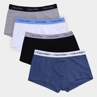 Kit Cueca Boxer Calvin Klein Low Rise Trunk Masculino 4 Peças