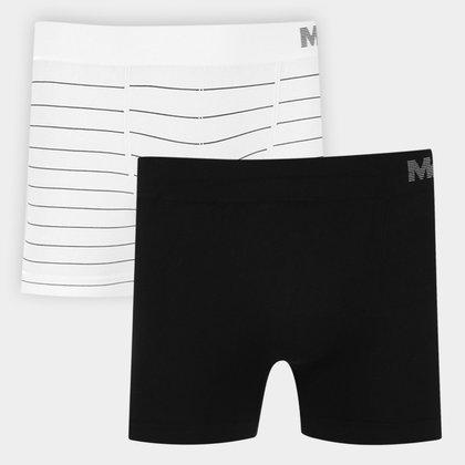 Kit Cueca Boxer Mash Microfibra Sem Costura 2 Peças
