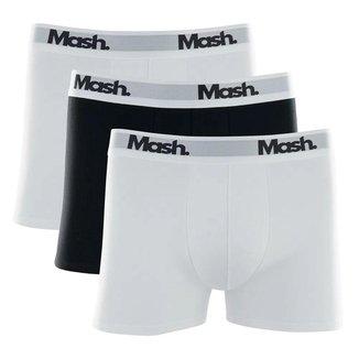 Kit Cuecas Boxer Mash 3 Peças Branca