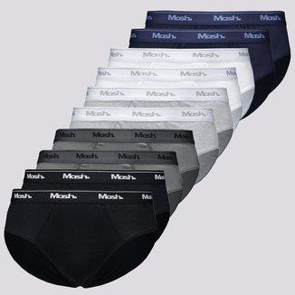 Kit de 10 Cuecas Mash Slip Cotton