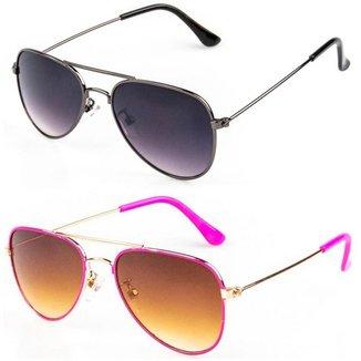 Kit De 2 Óculos De Sol Infantil Redhot Aviador  Masculina