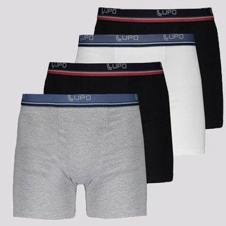 Kit de 4 Cuecas Boxer Lupo Slim Fit II