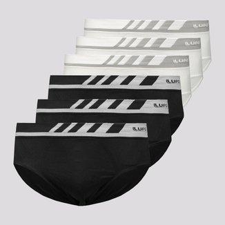 Kit de 6 Cuecas Slip Lupo Microfiber Sem Costura