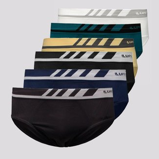 Kit de 6 Cuecas Slip Lupo Microfibra sem Costura