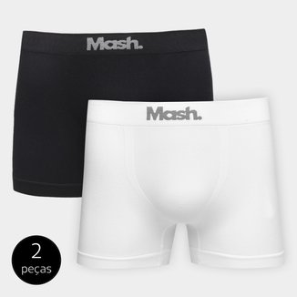 Kit de Cuecas Boxer Mash Sem Costura 2 Peças