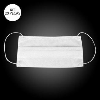Kit de Máscaras de Proteção Descartável com Haste de Nariz - Kidy TNT Dupla Camada - 20 Unid