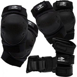 Kit de Proteção Esportivo Mormaii Skate e Patins Esportes Radicais