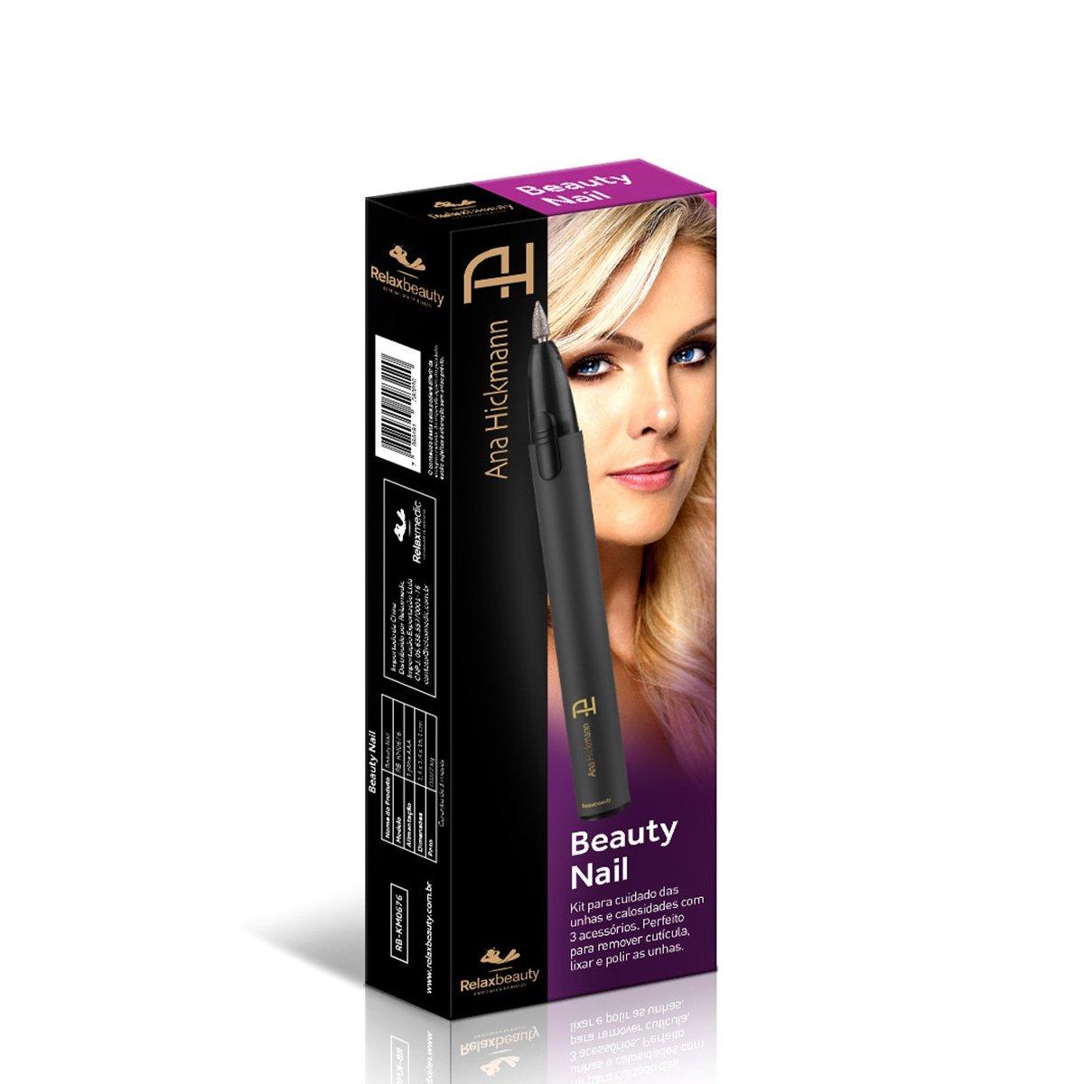 Kit de Unhas Relaxbeauty Ana Hickmann Beauty Nail - Preto - Compre ... fa7cc8d9b5