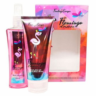 Kit Delikad Fantasy Escape Flamingo Body Splash + Body Lotion 200ml