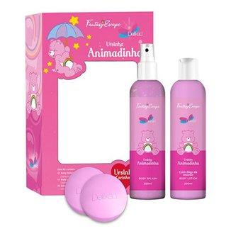 Kit Delikad Ursinha Animadinha Body Splash 200ml + Body Lotion 200ml + Duo Sabonete