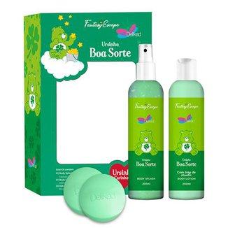 Kit Delikad Ursinho Boa Sorte Body Splash 200ml + Body Lotion 200ml + Duo Sabonete