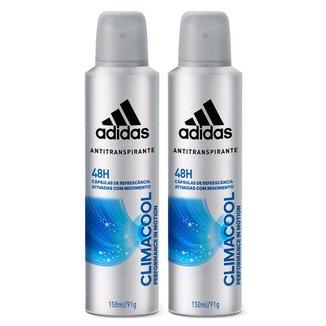 Kit Desodorante Adidas Climacool Aerosol 150 ml 2 Unidades
