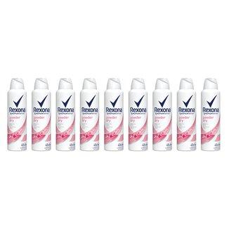 Kit Desodorante Rexona Aerosol Antitranspirante Powder Dry Feminino 150ml 9 Unidades