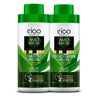Kit Eico Spécialité Amo Babosa Shampoo 450ml + Condicionador 450ml Kit
