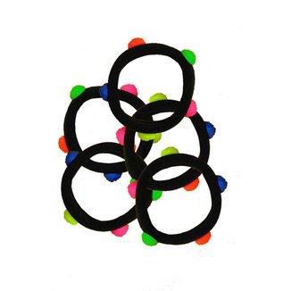 Kit Elástico de Cabelo Infantil Ania Store 5 peças