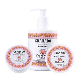 Kit Esfoliante + Hidratante Granado Calêndula  + Manteiga Corporal