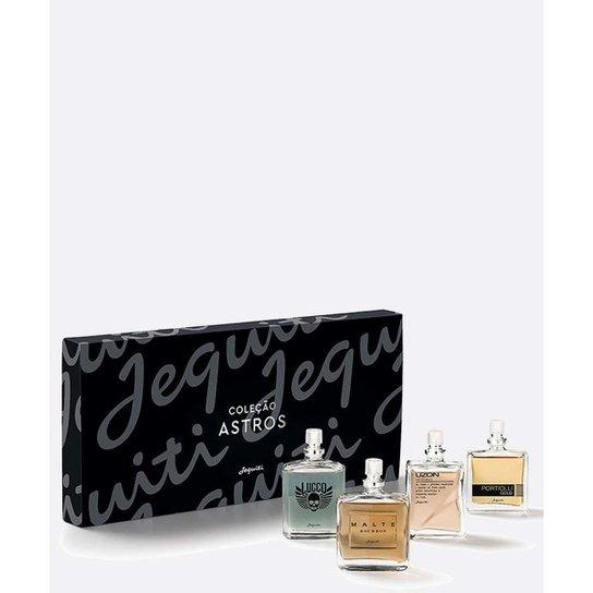 Kit Estojo 4 Perfumes Astros Jequiti 25ml Masculino - Preto