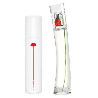 Kit Flower Refilável by Kenzo Eau de Parfum Perfume Feminino 100ml + Bruma para Corpo e Cabelo