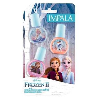 Kit Impala Disney Frozen 2 Esmalte Enfrente seus Medos + Abraços Quentinhos + Nunca Desista