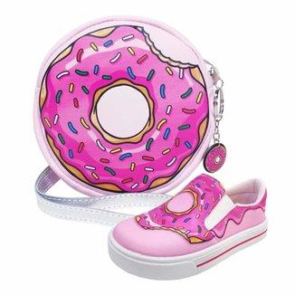 Kit Infantil Bolsa + Tênis Donut's, Magicc Kids Feminino