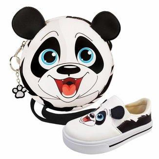 Kit Infantil Bolsa + Tênis Panda, Magicc Kids Feminino