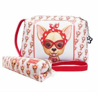 Kit Infantil Magicc Bolsa e Estojo Cachorrinha com Óculos Feminino