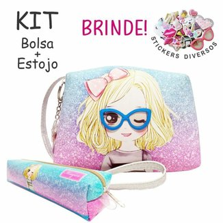 Kit Infantil Magicc Bolsa e Estojo com Óculos com Feminino