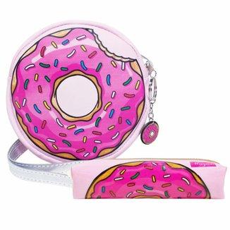 Kit Infantil Magicc Bolsa e Estojo Donuts Feminino