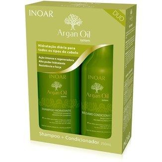 Kit Inoar Argan Duo Shampoo 250ml + Condicionador 250ml