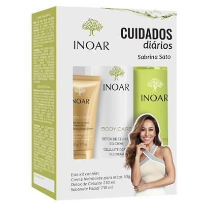 Kit Inoar Body Care Cuidado Diário 1 Creme 50g + 1 Sabonete 230ml + 1 Gel Creme 230ml