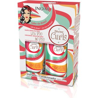 Kit Inoar Divine Curls Duo Shampoo 250ml + Condicionador 250ml